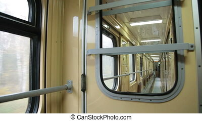 Railroad car interior - Passenger railroad car interior