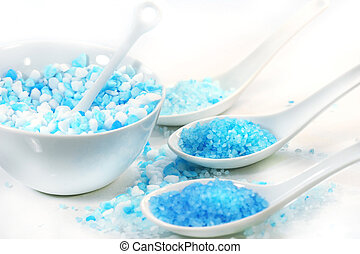 Bath salts with different colors for bath