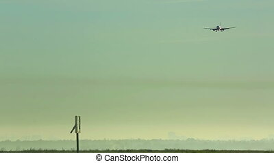 Final approach - Jet airliner approaching Tolmachevo airport...