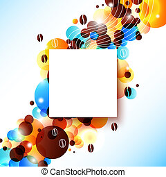 Bright coffee background with flare effect.