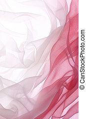red chiffon - soft red chiffon with curve and wave