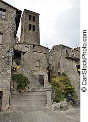 Borgo medioevale, Bomarzo - Angoletto caratteristico di un...