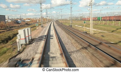Railroad Track At High Speed St Petersburg - Moscow