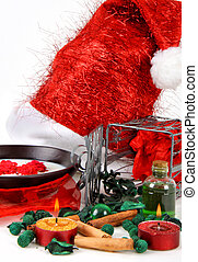 Christmas Spa - Various objects that represent the spa...