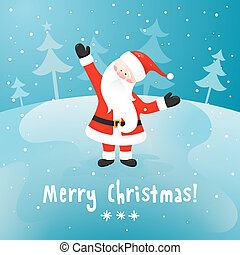 Santa Claus. Vector Christmas card. EPS 10.