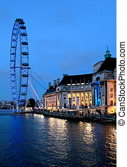 London eye, famous Britain capital attraction