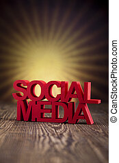 Social media,communication, sunset