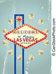 las vegas - illustration of las vegas signal with vintage...