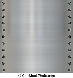 metal panel with screws - great image of steel or alloy...