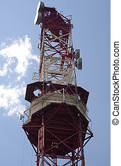 Cellular antennas - Tower with antennas of cellular...