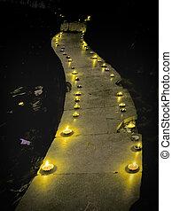 Oil lamps, Diyas, Flames