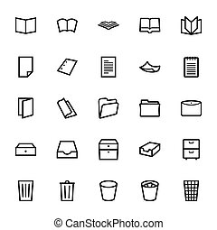 Document icons - Set of document icons