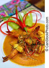 Red curry prawn