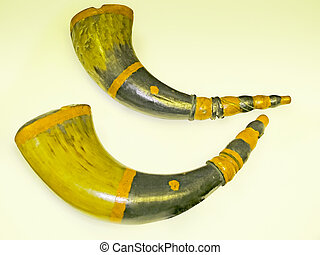 Sound Bigul made of buffalo horns, Music Instrument