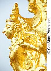 Golden Buddhist angel