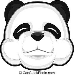 Cute Panda - A vector image of a cute cartoon of panda....