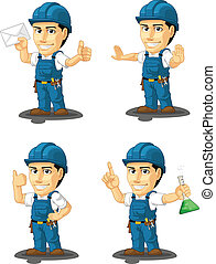 Technician or Repairman Mascot 4