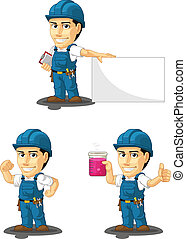 Technician or Repairman Mascot 6