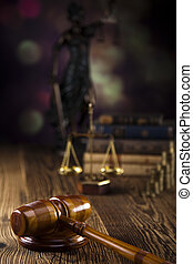 Scales of Justice,judge gavel