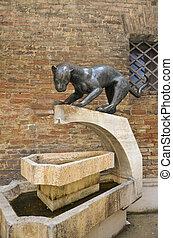 Simbolo della contrada della Pantera, Siena 2 - La Pantera,...