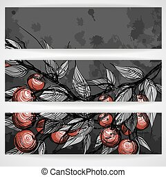 Cherries With Leaves.