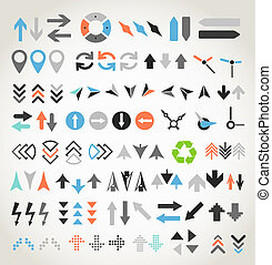 Arrow sign icons collection