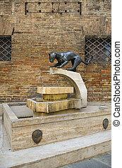 Simbolo della contrada della Pantera, Siena - La Pantera, il...