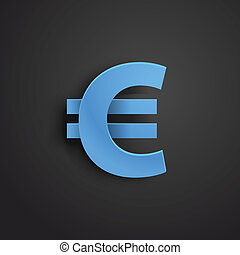 Modern stylish icon Euro sign