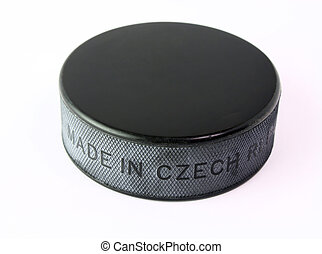Hockey puck isolated