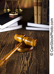 Mallet of judge, legal code, scale - Mallet of judge, legal...