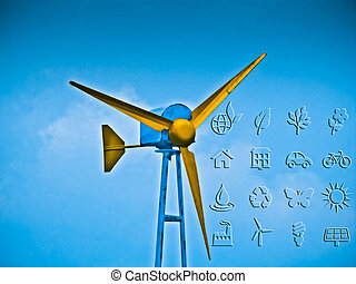 Wind wheel, Alternative Energy, Concept