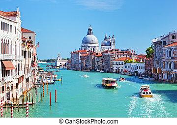 Venice, Italy Grand Canal and Basilica Santa Maria della...