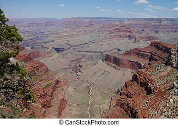 Into the Grand Canyon - View into the Grand Cayon from along...