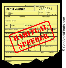 Habitual speeding ticket - Speeding ticket with habitual...