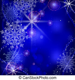 Blue Background With Snowflakes.
