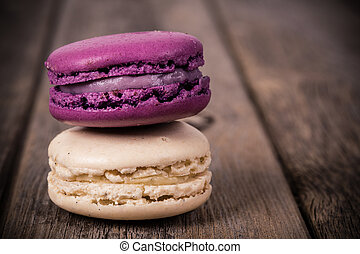 Assorted macaroons vintage - Assorted macaroons over old...