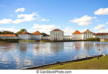 Nymphenburg Castle near Munich - Panoramic view of...