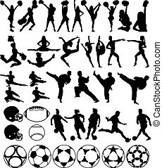 Sport silhouettes - Various sport silhouettes vector