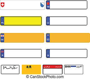 World license plate blanks vector