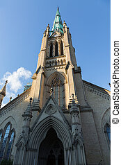 Cathedral Church St James Toronto - The tower and spire of...