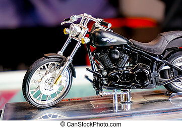Harley davidson model - Delhi, India - 6th oct '13 : Harley...