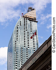 Modern high rise office building Toronto - Construction of...
