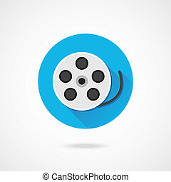 Vector Film Reel Icon