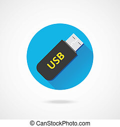 Vector Flash USB Drive Icon