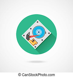 Vector Hard Drive Icon