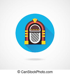 Vector Retro Jukebox Icon
