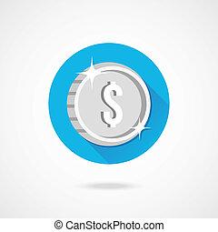 Vector Silver Coin Icon