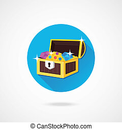 Vector Treasure Chest Icon