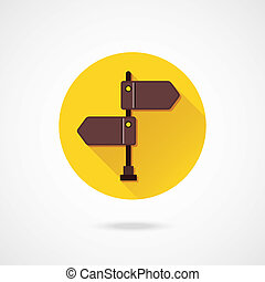 Vector Wooden Signpost Icon