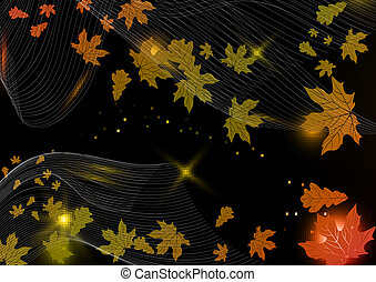 Abstract Autumn Background Vector Illustration Eps 10